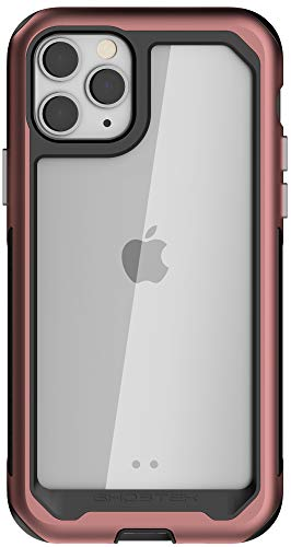 """Ghostek Atomic Slim Designed for iPhone 11 Pro Max Case Clear Pink Cover for Women (6.5"""") Shock Absorption Corners Scratch Resistant Back & Wireless Charging Compatible Apple iPhone 11 Pro Max - Pink"""