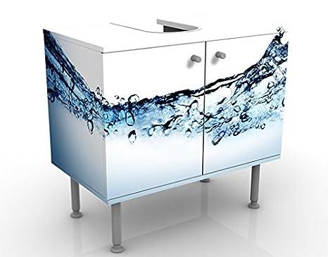 Apalis Design Vanity Fizzy Water 60x 55x 35cm, piccolo, largo 60cm, regolabile, lavandino, lavabo, rubinetto per lavabo da bagno, armadio, unità di base, bagno, narrow, Flat 53049