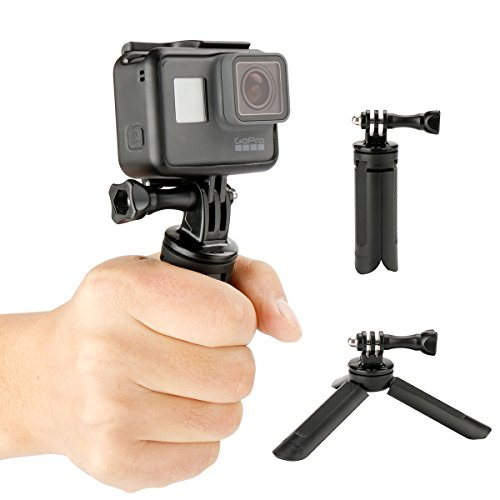 Ulanzi 2 in 1 Handgrip and Tripod - for GoPro Hero 5, 4, Black, Session, Hero 4, Session, Black, Silver, Hero+ LCD, 3+, 3, 2, 1 and Other Digital Cameras with a Tripod Connection