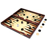 Wooden Backgammon in case
