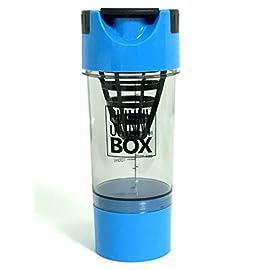 PROTEIN-DRINK-SHAKER-MIXER-BOTTLE-16oz-500ml-Protein-Mixer-Blender-with-Twist-Go-Storage-for-Workout-Powder-Supplements-Pre-Workout-BCAA-Creatine-Whey
