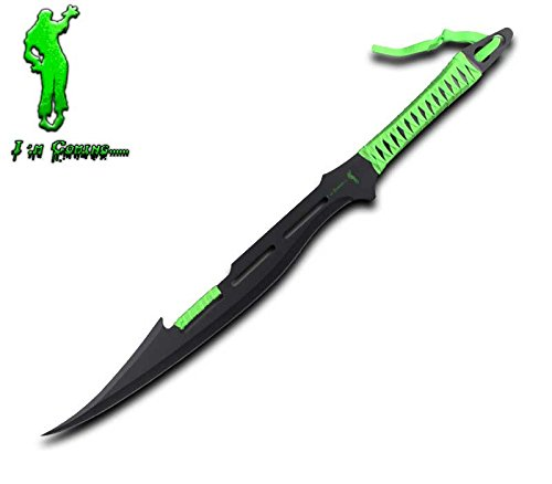 Rogue-River-Tactical-Zombie-Killer-Machete-Killing-Sword-Full-Tang-Blade-Green-Cord-wrapped-Handle-Apocalyptic-Decapitator