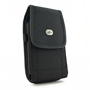 Vertical Heavy Duty Canvas Strong Rugged Holster Case Pouch with Belt Clip For Sony Xperia M2 Sony D2303, D2305, D2306