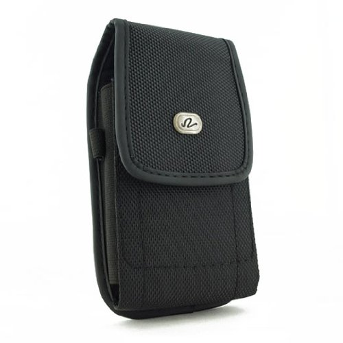 Vertical Heavy Duty Canvas Strong Rugged Holster Case Pouch with Belt Clip For Nokia 2760