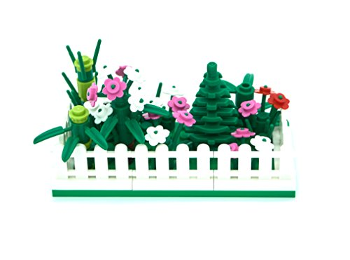 [LEGO Mini Modular Fenced Tree and Flower Garden] (Shrubbery Halloween Costume)