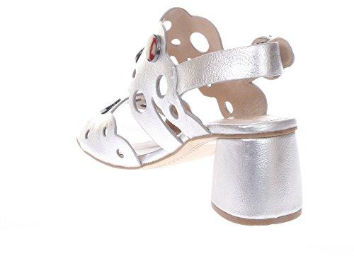 Bruno Premi Donna Sandali Tacco R0902G Sandalo Due Fasce Laminato argento