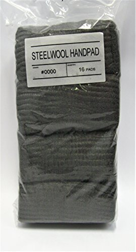 STEEL WOOL #0000 HAND PADS (Quantity - 12 bags 16 pads/bag) by Unknown
