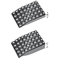 Rhino Mats RLXC-3660DS Reflex Conductive Anti-Fatigue Mat, 3 Width x 5 Length x 1 Thickness