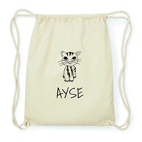 JOllipets AYSE Hipster Turnbeutel Tasche Rucksack aus Baumwolle Design: Katze Rcq7sWsH