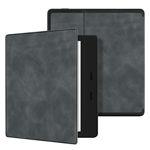 Ayotu Skin Touch Feeling Case for All-New Kindle Oasis(10th Gen, 2019 Release & 9th Gen, 2017 Release),with Auto Wake/Sleep,New Waterproof 7''Kindle Oasis Cover,Soft Shell Series KO The Dark Gray