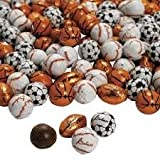 Chocolate Covered Football Soccer Baseball and Basketball Christmas Candy - 5 Pounds Bulk Wholesale - Individually Foil Wrapped (Ultimate 4 Ball Variety Mix)