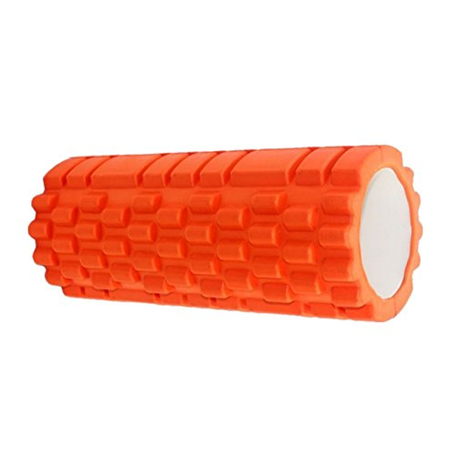 33CM EVA High Density TRIGGER POINT Foam Roller for Fitness Home Gym Pilates Yoga Exercise Physiotherapy Massage etc (Orange) by JogaSpace, LLC