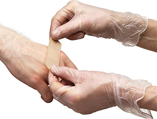Care Plus Disposable Vinyl Gloves, Powder Free, Clear, Latex Free, Allergy Free, Small, 100 Gloves In A Box Pack Of 2
