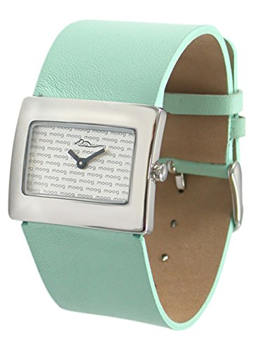 Moog Paris Supra Women's Watch with Silver Dial, Turquoise Strap in Genuine Leather - M41642-012