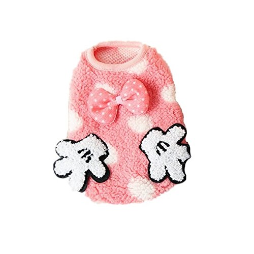 Chicpaw Teacup Dogs Coat Pet Puppy Small Gloves Vest Clothes Dog Cat Teddy Cute Apparel (XXS, Pink)
