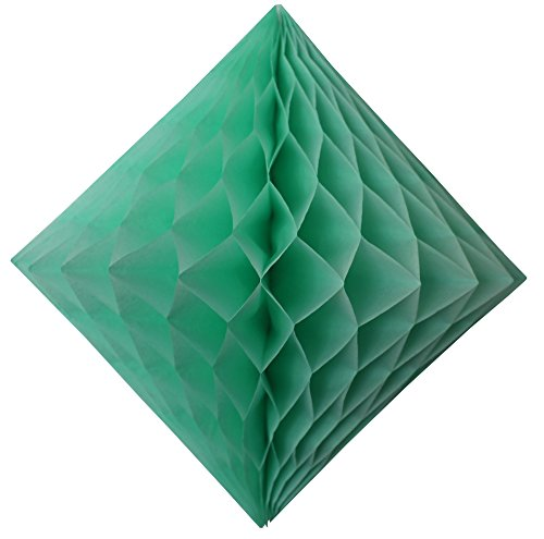 3-pack 12 Inch Mint Green Honeycomb Diamond Decoration]()