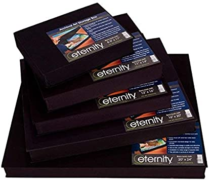 HG Concepts Art Photo Storage Box Eternity Archival Clamshell Box for Storing Artwork Photos /& Documents Deluxe Acid-Free Sturdy /& Lined with Archival Paper Black - 8.5 x 11