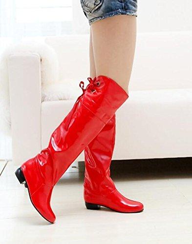 XiuHong XiuHong XiuHong Shop Lackleder Stiefel Lässige Damen Stiefel EU34,5-41,5 1da71e