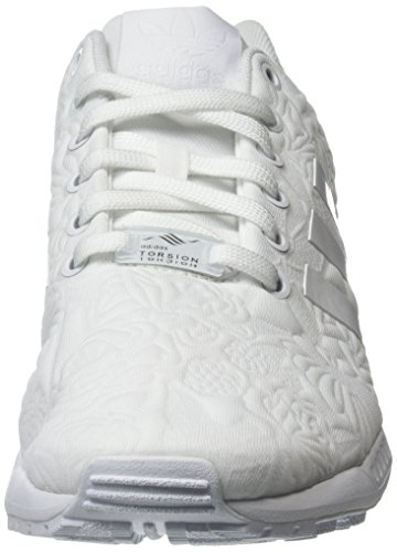 adidas Herren Zx Flux Low-Top Weiß (Ftwr White/Ftwr White/Core Black)