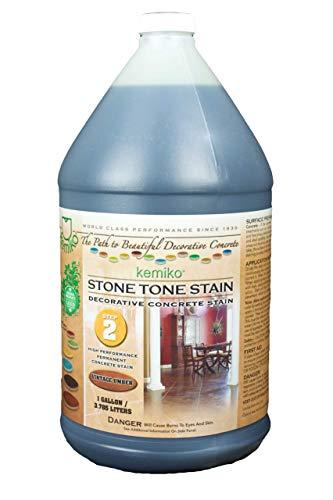 Kemiko Stone Tone Concrete Stain (Walnut) Dark Walnut Floor Stain