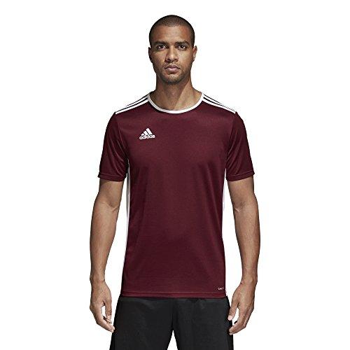 adidas Men's Soccer Entrada 18 Jersey, Maroon/White, XX-Large