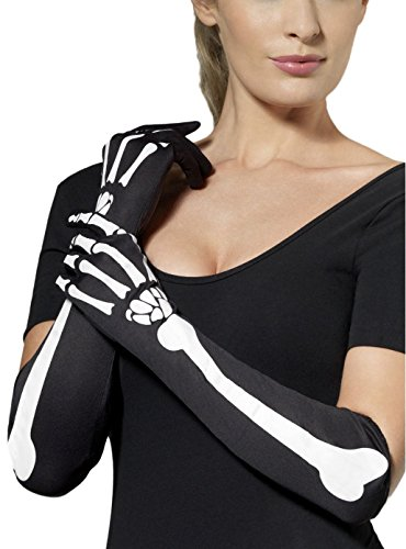 Avenue Gloves (Skeleton Gloves Costume Accessory)