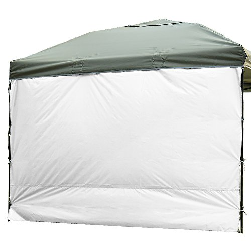 NINAT Side Sunshade Privacy Panel Wall for 10 ft Gazebos Canopy Tent Waterproof, White