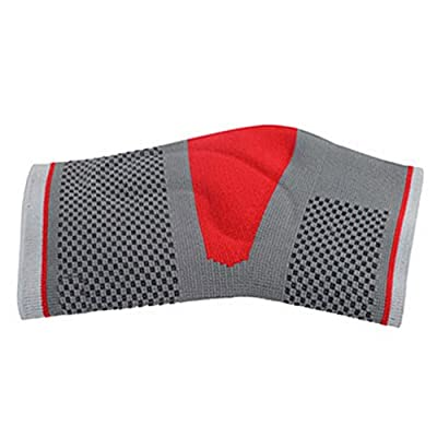 Sport Safety Gray Breathable Knit Red Sport Silicone Ankle Support Basketball Equipment Size L