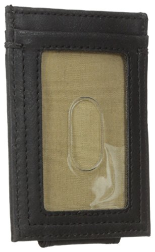 Dockers Mens Slim Series Card Holder With Magnetic Bill Clip