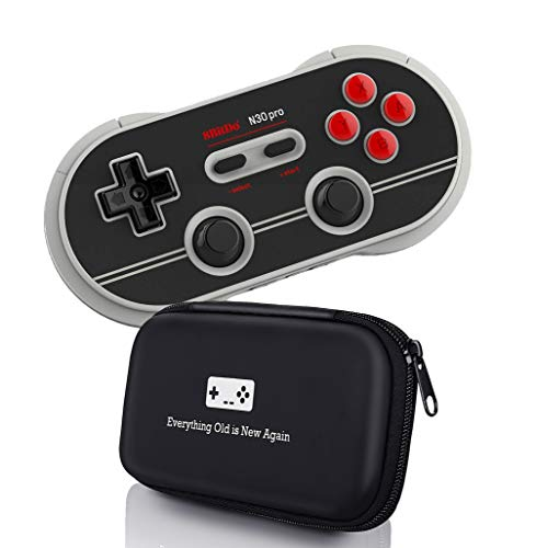 Geek Theory 8Bitdo N30 Pro Controller with Bonus Carrying Case - for iOS/Android/Mac/PC/Switch/NES and SNES Classic