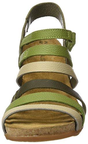 El Naturalista 5030, Sandali con Tacco Donna Multicolore (Kaki Mixed)