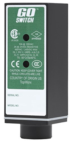 GO Switch 21-11510-00 CSA/FM, CL1 Div 2 Exp-Proof, 10 mm Sensing Distance, 10A/120VAC, Limit Switch Style, 1/2