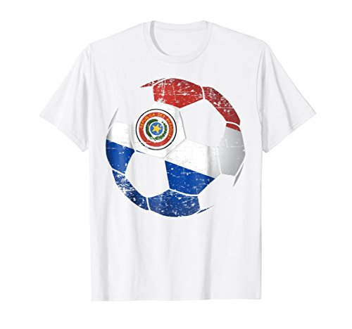 Paraguay Soccer T-shirt - Paraguay Soccer Ball Flag Jersey Shirt - Paraguay Football
