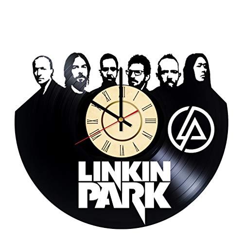 Clock Bennington (Rock Band Vinyl Clock Gift for Linkin Park Fans LP Wall Decor Chester Bennington Art Nu Metal Music Living Room Artwork)