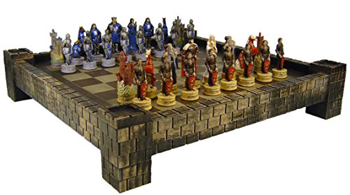 HPL Medieval Times King Arthur / Sir Lancelot Camelot Knights Chess Set w/ 17