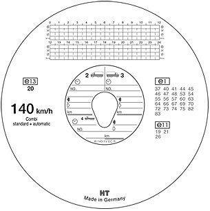Diagrama Discos/Tacho Discos para tacógrafo 140 Km/h: Amazon.es: Oficina y papelería