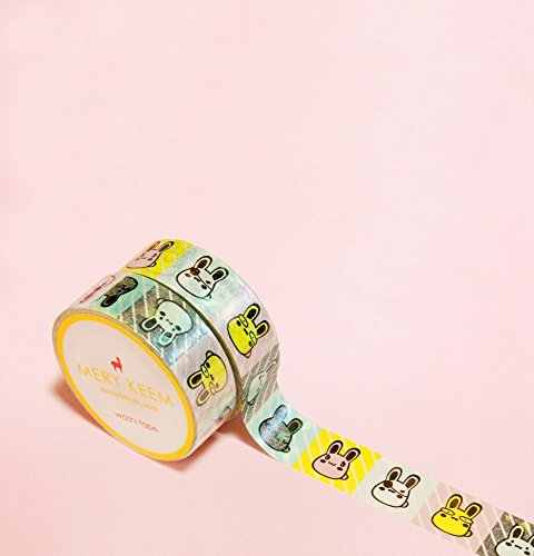 Kawaii Bunnies Washi Tape for Planning • Scrapbooking • Arts Crafts • Office • Party Supplies • Gift Wrapping • Colorful Decorative • Masking Tapes • DIY from MERYKEEM