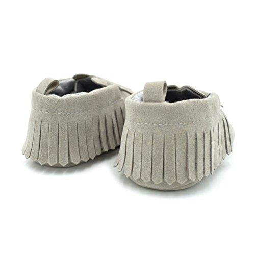 Huhu833 Babyschuhe, Baby Kleinkind Mädchen Jungen Schuh Cartoon Bär Soft Anti-Rutsch Schuhe�?-12M�?Grau