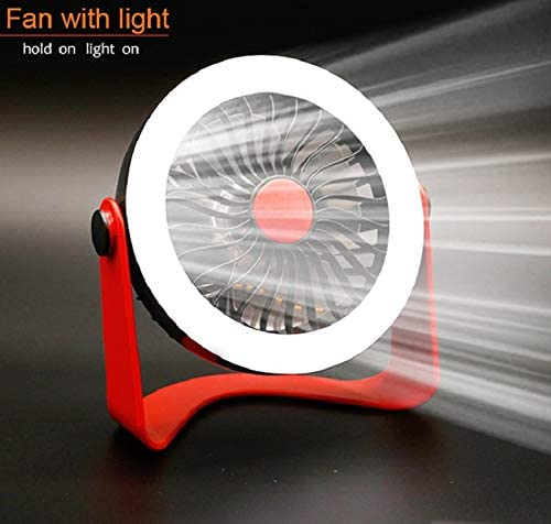 Color : Pink YIWU Portable Fan ,USB Rechargeable Table Desk Fan with Night Light Cooling Fan for Home//Office
