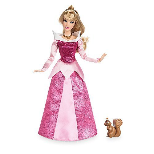 - Disney Aurora Classic Doll with Squirrel Figure - 11.5 Inch