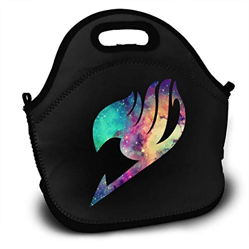 Sunmoonet Insulated Lunch Bag Fairy Tail Anime Logo Bento Lunch Bag Backpack Fresh Lunch Bags for Adult