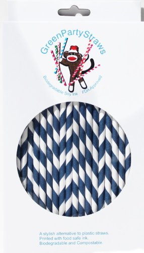 Paper Straws Pack 144 Navy product image