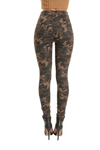 Camouflage Mujer para Vaqueros Punk Plain Portobello CXq74n