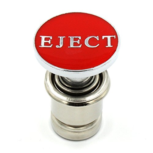 Kei Project Eject Button Car Cigarette Lighter Replacement 12V Accessory Push Button Fits Most Automotive Vehicles (Red)