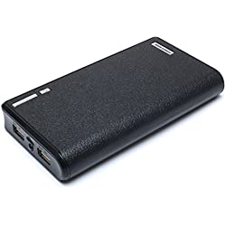 20000mAh Portable Charger External Battery Power Bank for iPhone 6 6S Plus 5S, iPad, Samsung Galaxy, Smart Phones and Tablets (Black)