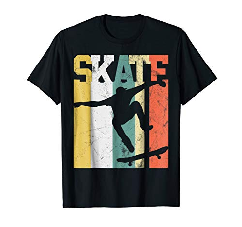 Skate T-Shirt Skateboarder Gift Tshirt Skateboard Tee Retro