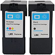 ESTON 2 Combo Pack Ink Cartridges for Lexmark No.4 Lexmark No.5 X2600 X2650 X2670 Z2300