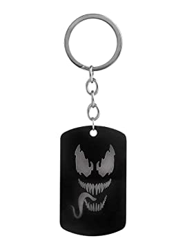 Venom The Movie 2018 Llavero de Metal Dog Tag Logo Mascara Cara