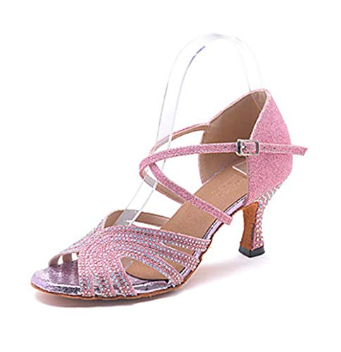 Square Just 003 Fish Jazz Latin Heels uk4 Mouth High Eu36 Shoes Dance cn36 Gold Shangyi 8w4qZv