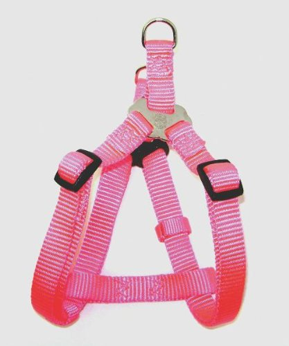 Hamilton Adjustable Easy-On Step-In Style Dog Harness, 5/8-Inch by 12-20-Inch, Small, Hot Pink